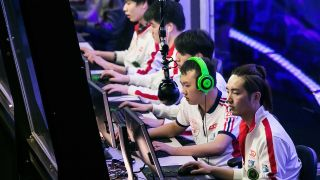 Yao and Rabbit of LGD Gaming compete at The International DOTA 2 Champsionships at Key Arena on July 19, 2014 in Seattle, Washington.
