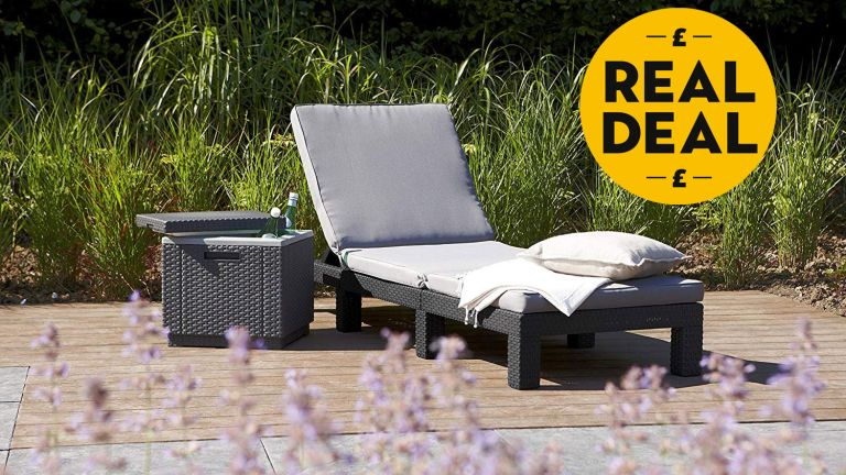 Rattan furniture sale: Allibert by Keter Daytona Sunlounger