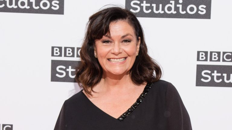 Dawn French on the red carpet
