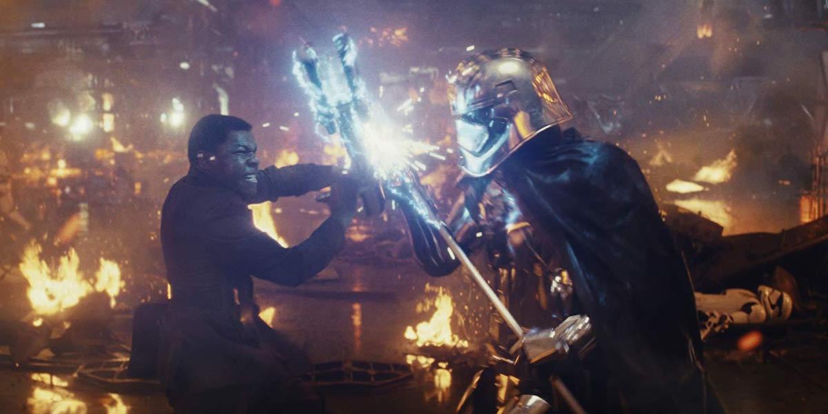 Finn vs. Phasma in Star Wars: The Last Jedi