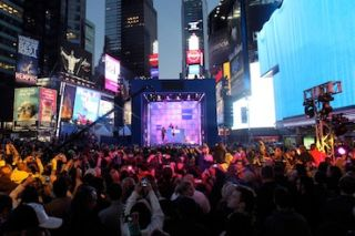 WorldStage Supports Nicki Minaj Times Square Event