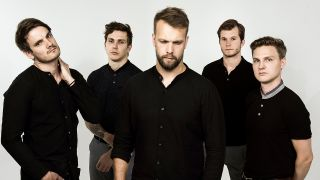 Leprous group shot against a white background