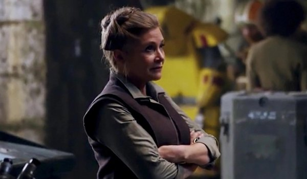 Carrie Fisher as General Leia the force awakens