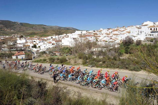 The peloton in action on Stage Four of the 2014 Ruta del Sol