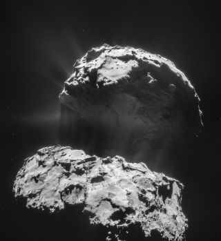 Comet 67P/Churyumov-Gerasimenko Flying Through Deep Space