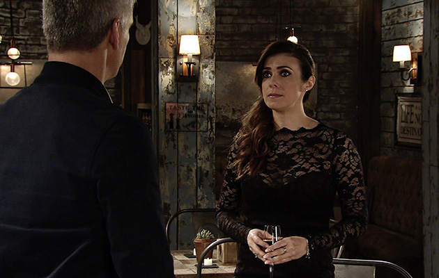 Michelle Connor with Robert in Coronation Street