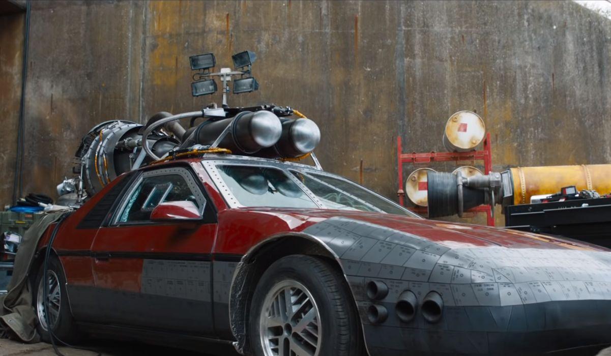 F9 car with a rocket engine