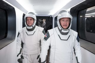 NASA astronauts Bob Behknen (left) and Doug Hurley will be the first to fly on SpaceX's Crew Dragon spacecraft during the Demo-2 mission. It could launch in Spring 2020.