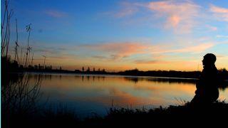 Tench fishing lake