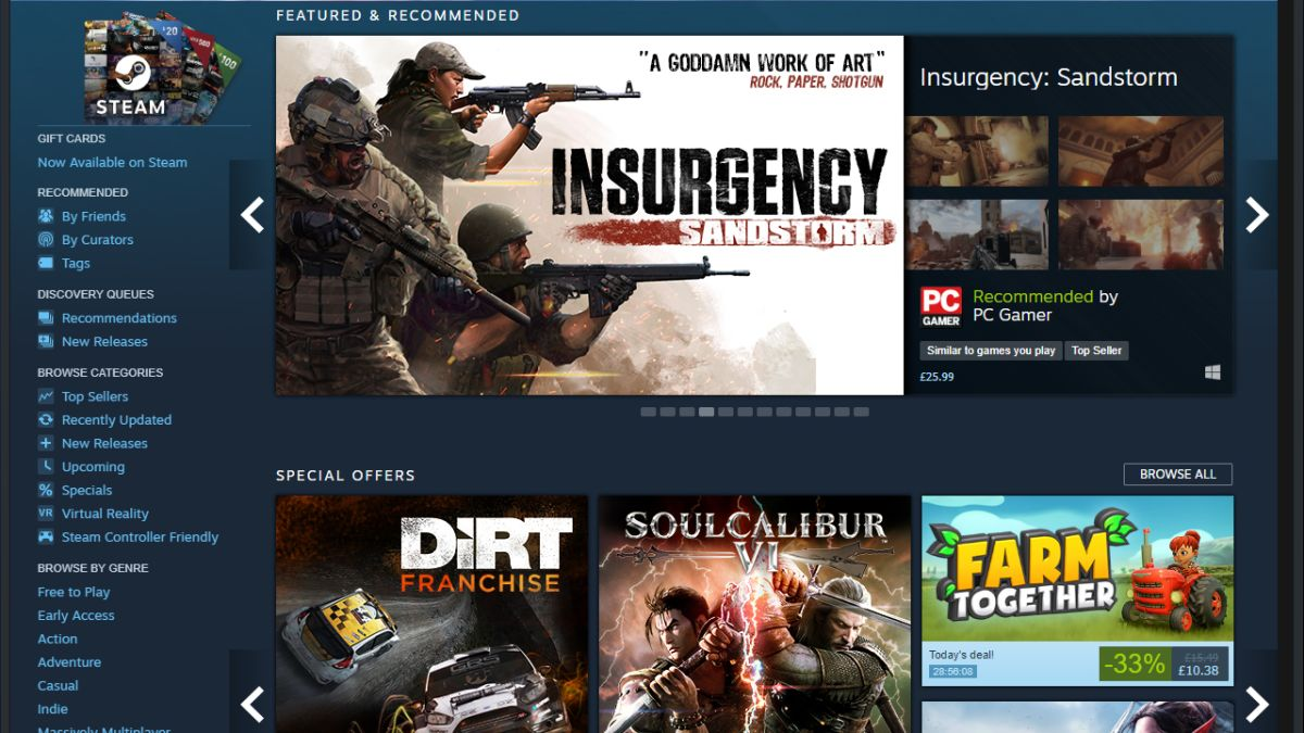 Steam is finally fixing its games algorithm, as Epic Games Store looms large