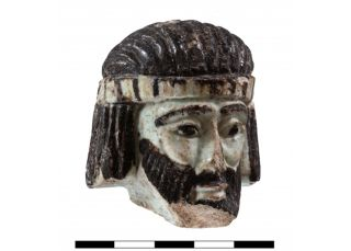 This 2,800-year-old miniature sculpture was found in the ancient city of Abel Beth Maacah in northern Israel. It may depict a biblical king.