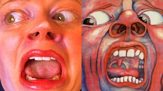 a recreated king crimson album sleeve vs the real thing