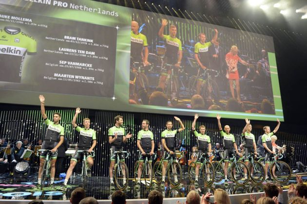 The Belkin team poses before the 2014 Tour de France