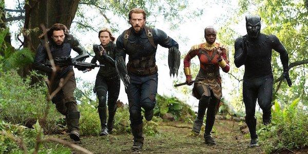 Avengers charging in Infinity War
