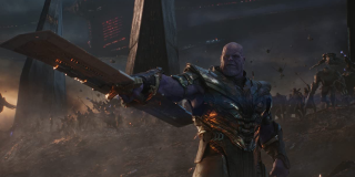 Thanos and his army in Endgame