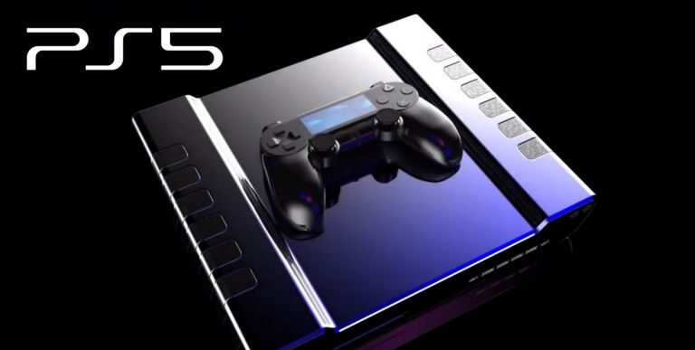 PS5 render and logo