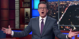 stephen colbert excited the late show