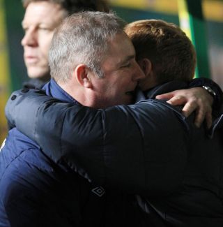 Ally McCoist, left, feels leaving Celtic is the right thing for Neil Lennon