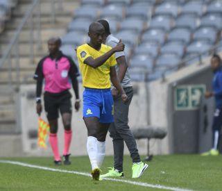 Peter Shalulile of Mamelodi Sundowns celebrates his goal