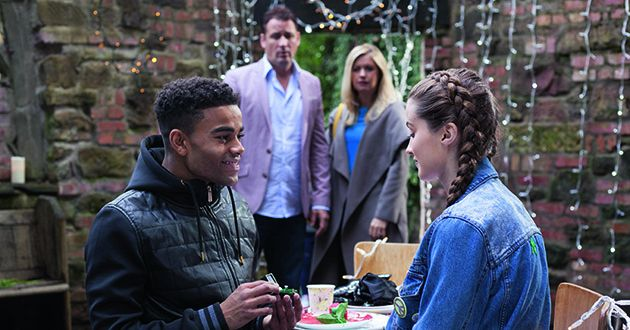 Prince McQueen proposes to Lily Drinkwater in Hollyoaks.