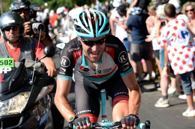 Jens Voigt escapes on stage twenty of the 2013 Tour de France