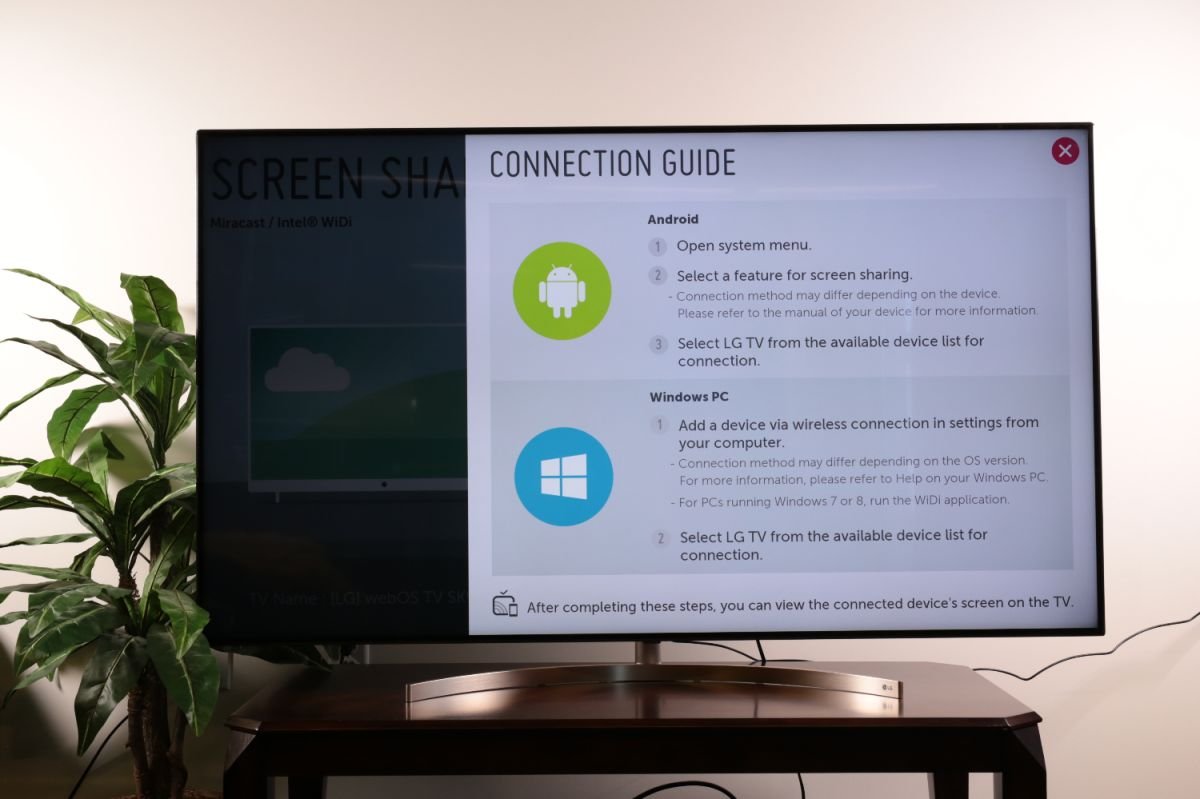 How to set up screen mirroring on your LG TV - LG TV