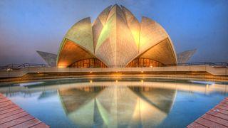 incredible famous buildings: Lotus Temple