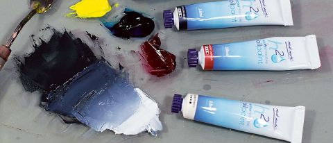 Tubes of Mont Marte H20 Water Mixable Oil Paints