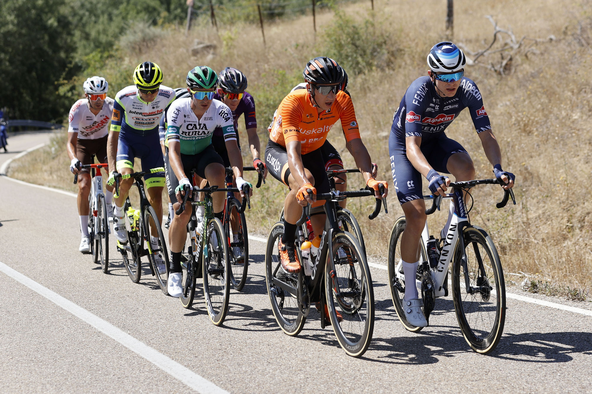 The break of stage 3 at the Vuelta a Espana
