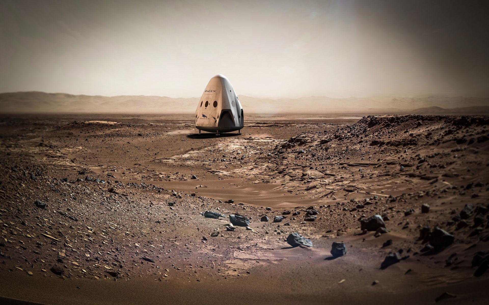 Sending Dragon To Mars Wallpaper Space