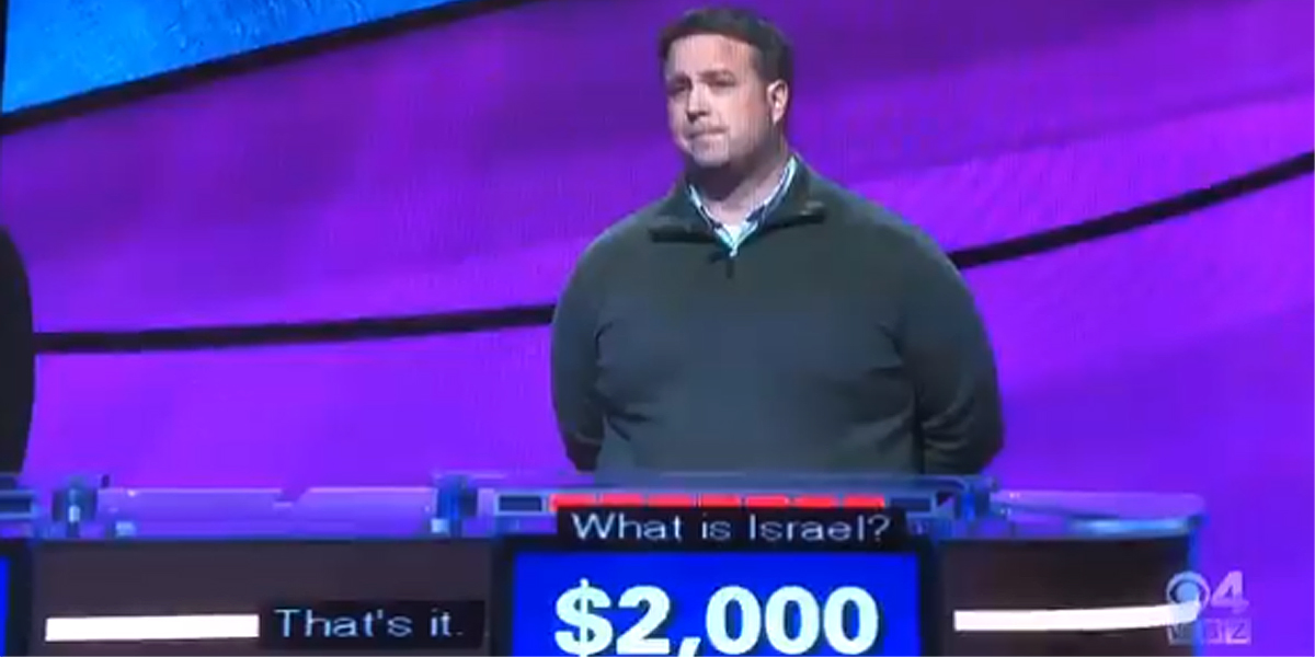 Jeopardy awards correct answer to Bethlehem being located in Israel not Palestine