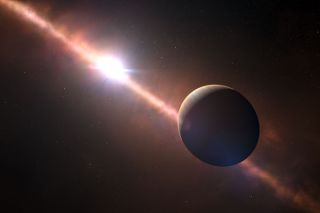 Artist's Impression of the Planet Beta Pictoris b