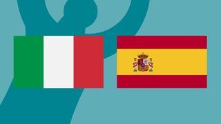 Italy vs Spain at Euro 2020