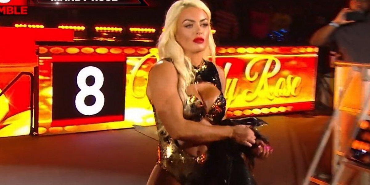 Mandy Rose at the Royal Rumble
