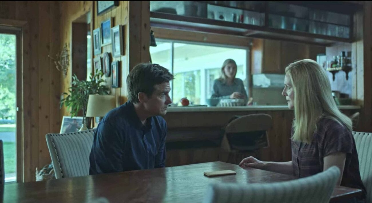 Laura Linney, Jason Bateman, and Sofia Hublitz in Ozark