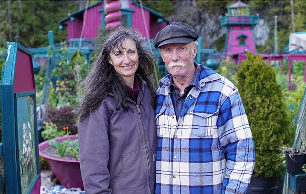 World's Weridest Home - shows Catherine King and Wayne Adams on Vancouver Island, Canada