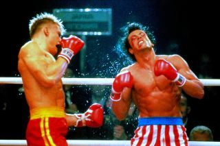 Dolph Lundgren in Rocky IV, throwing a punch