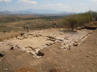 Temple structure in El Palenque