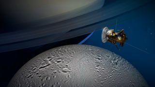 Cassini at Enceladus