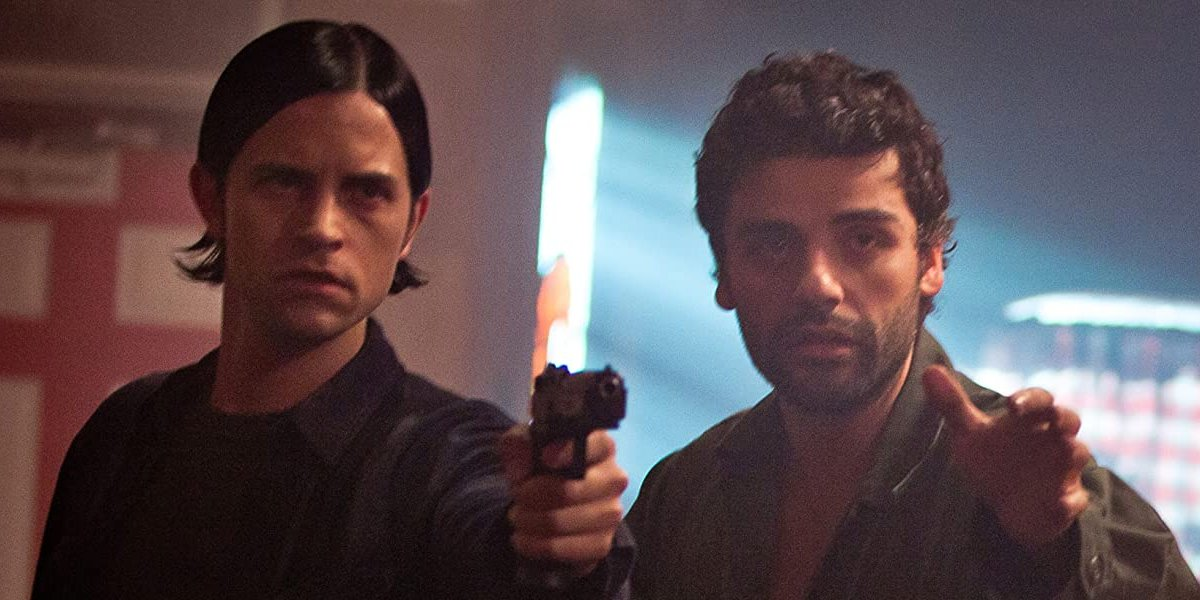 Brian Petsos and Oscar Isaac in Revenge for Jolly!