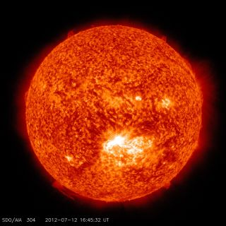 X1.4 Class Solar Flare of July 12, 2012