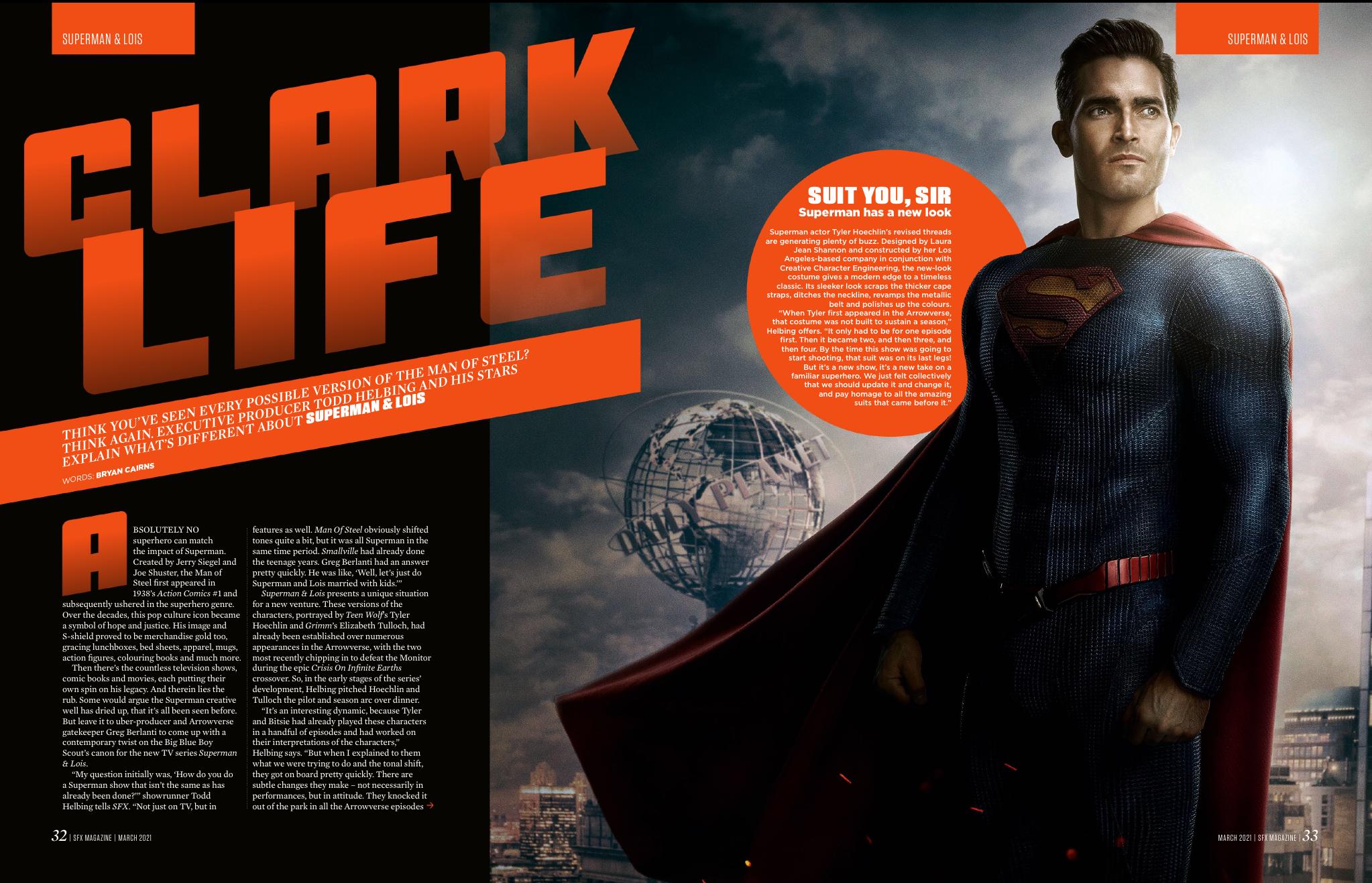 La función de Superman & Lois del número 337 de SFX.