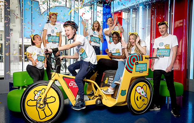 The One Show - Rickshaw challenge for Children in Need