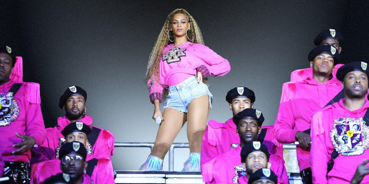 Beyonce during Coachella set Homecoming movie