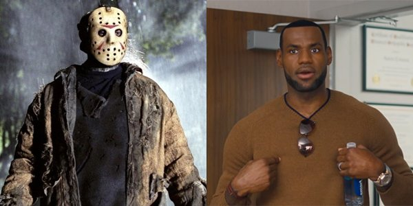 Jason Voorhees and LeBron James