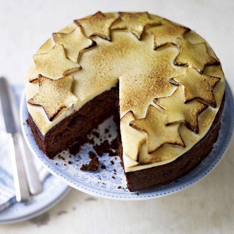 Chocolate Christmas Cake-Baking-woman and home