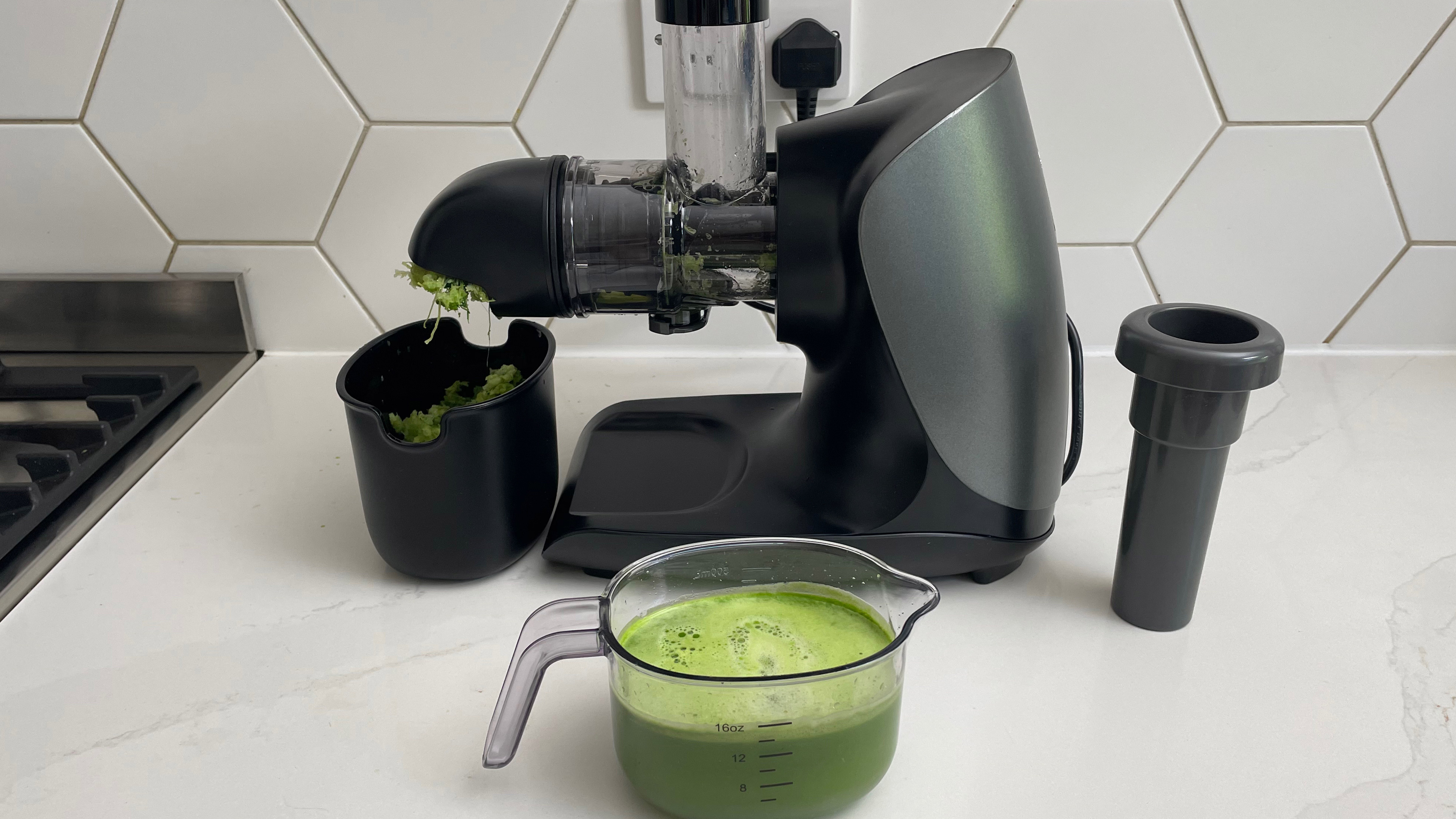 The Ninja Cold Press Juicer, which has been used to juice kale