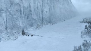 "The ice wall in ""Game of Thrones"" separates the Seven Kingdoms from the wildlings."
