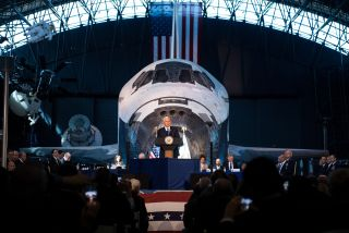 The National Space Council, which first met in October at the Smithsonian's Udvar-Hazy Center, will meet Feb. 21 at NASA's Kennedy Space Center, with space regulatory reform expected to be one of the topics of the meeting