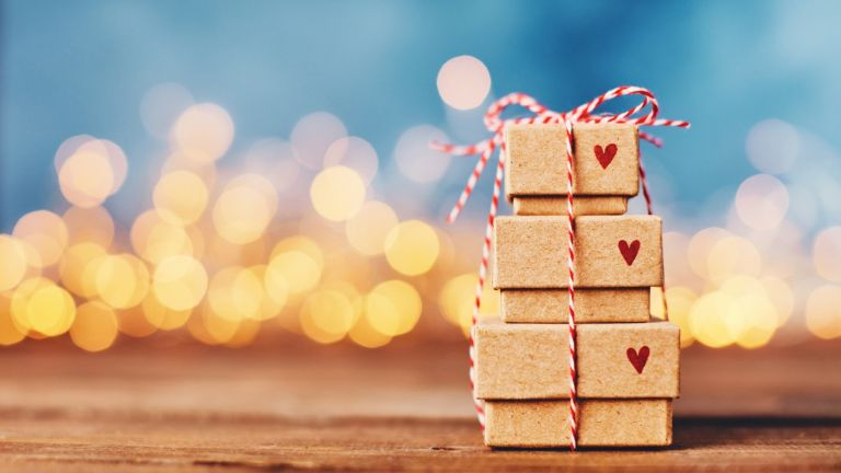 Not On The High Street Cyber Monday - Presents and gifts piled high with hearts